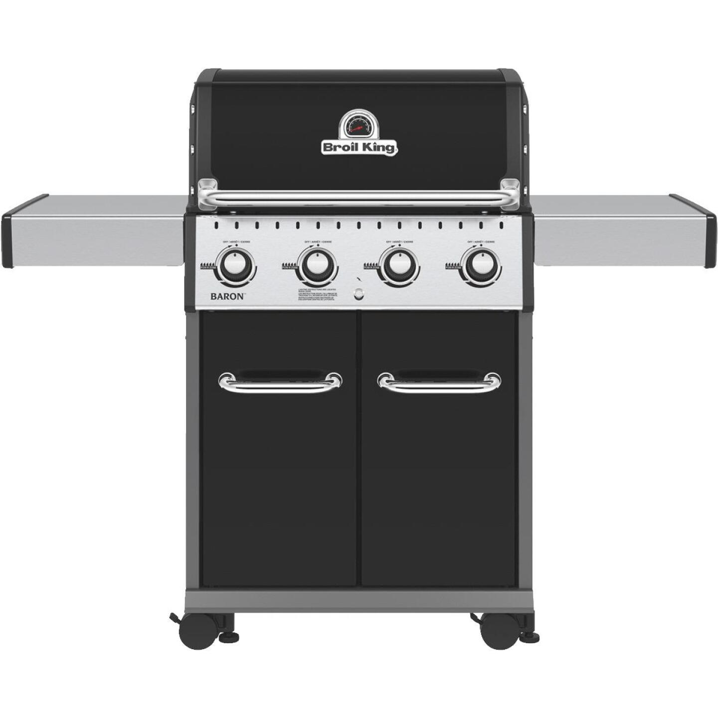 Broil King Baron 420 Pro Special Edition Black 4-Burner Stainless Steel 40,000 BTU LP Gas Grill Image 1