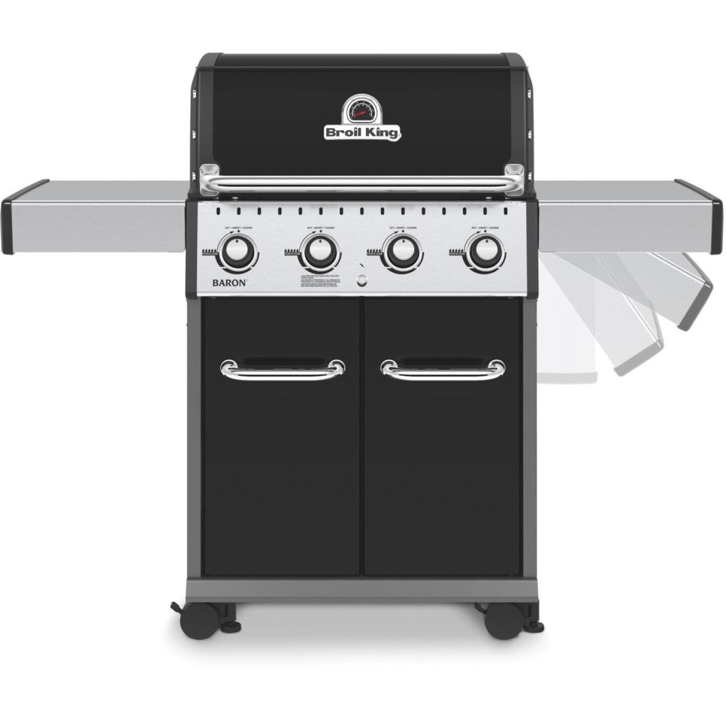 Broil King Baron 420 Pro Special Edition Black 4-Burner Stainless Steel 40,000 BTU LP Gas Grill Image 6