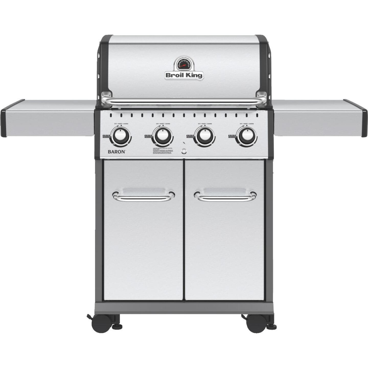 Broil King Baron S420 Pro Special Edition 4-Burner Stainless Steel 40,000 BTU LP Gas Grill Image 1