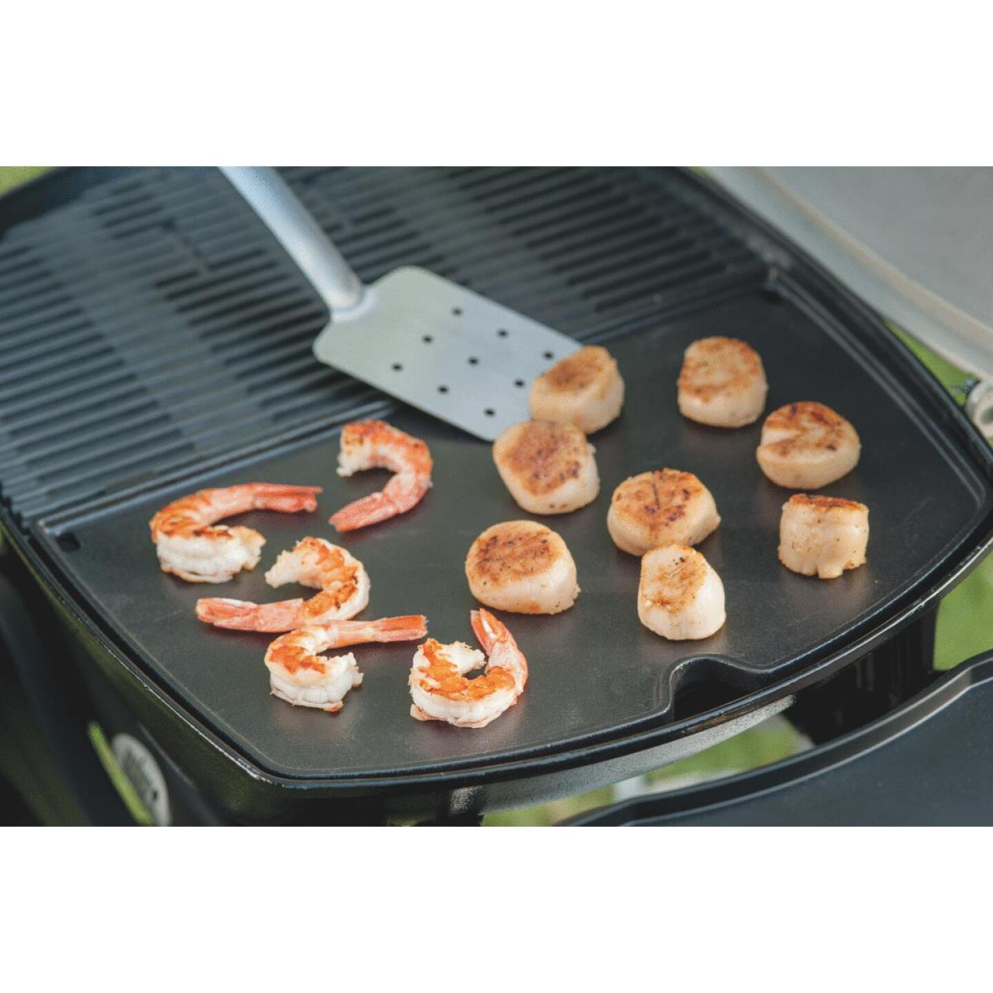 Weber Q 14.1 In. W. x 18.8 In L. Porcelain Enameled Cast Iron 200/2000 Series Gas Grill Griddle Image 2