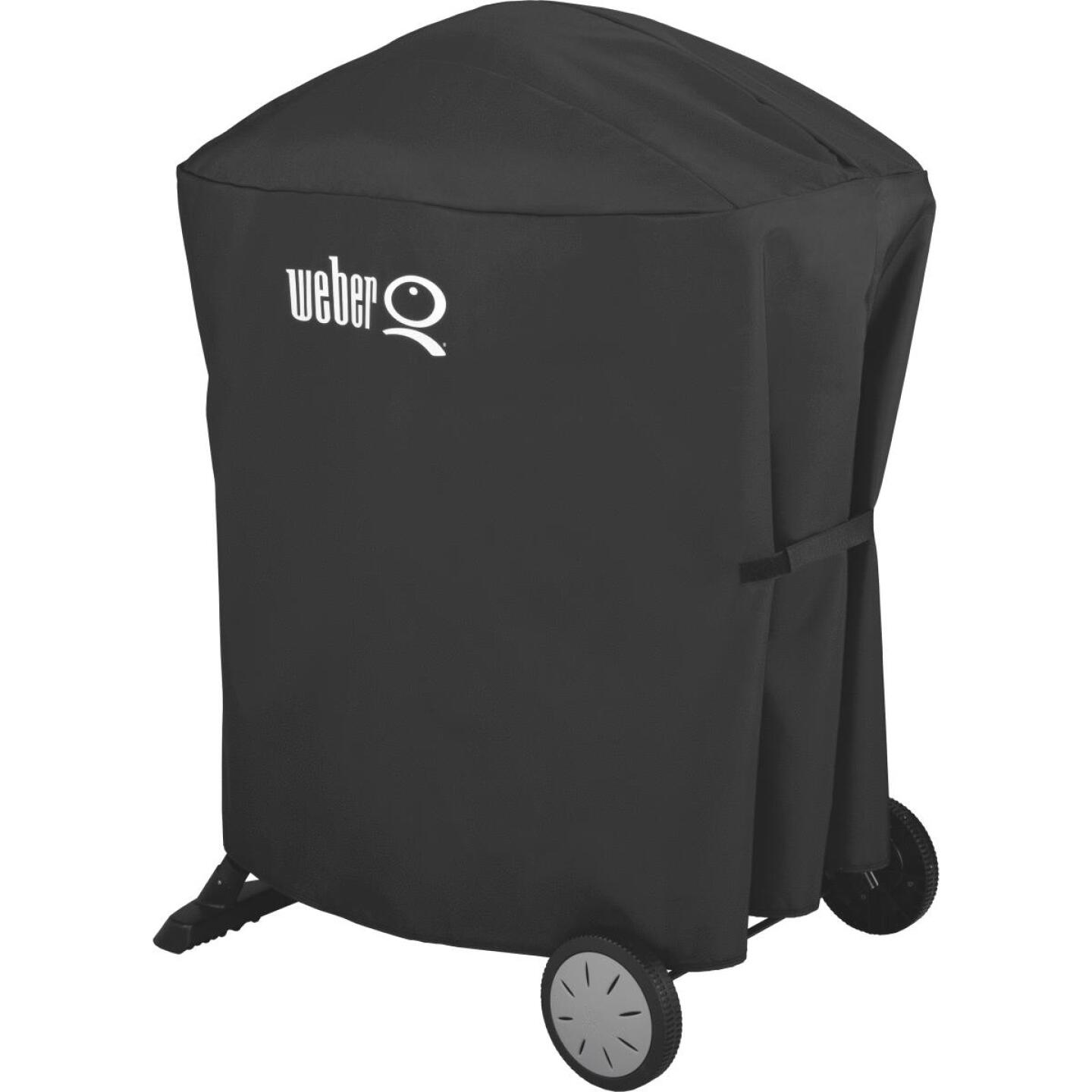 Weber Q 100/1000 & Q 200/2000 Q Cart 32 In. Black Vinyl Grill Cover Image 1