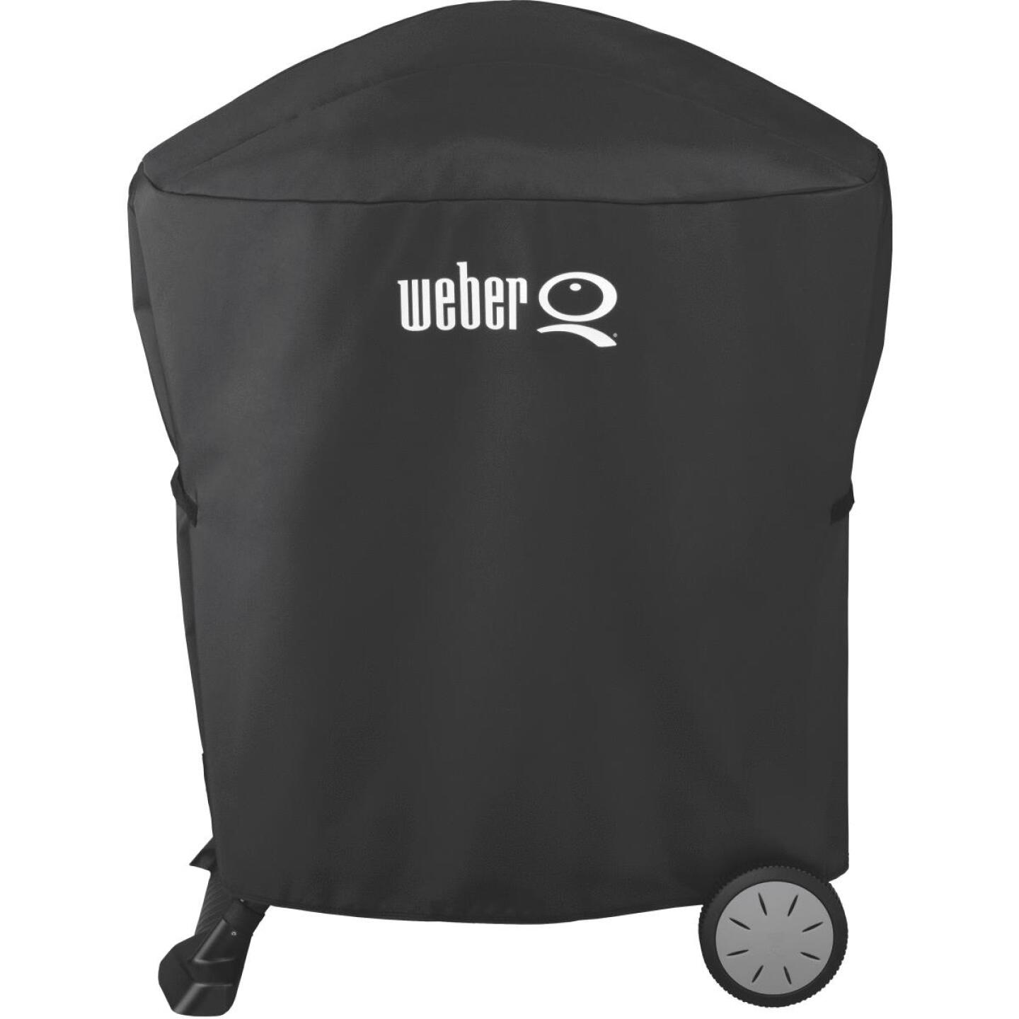 Weber Q 100/1000 & Q 200/2000 Q Cart 32 In. Black Vinyl Grill Cover Image 5