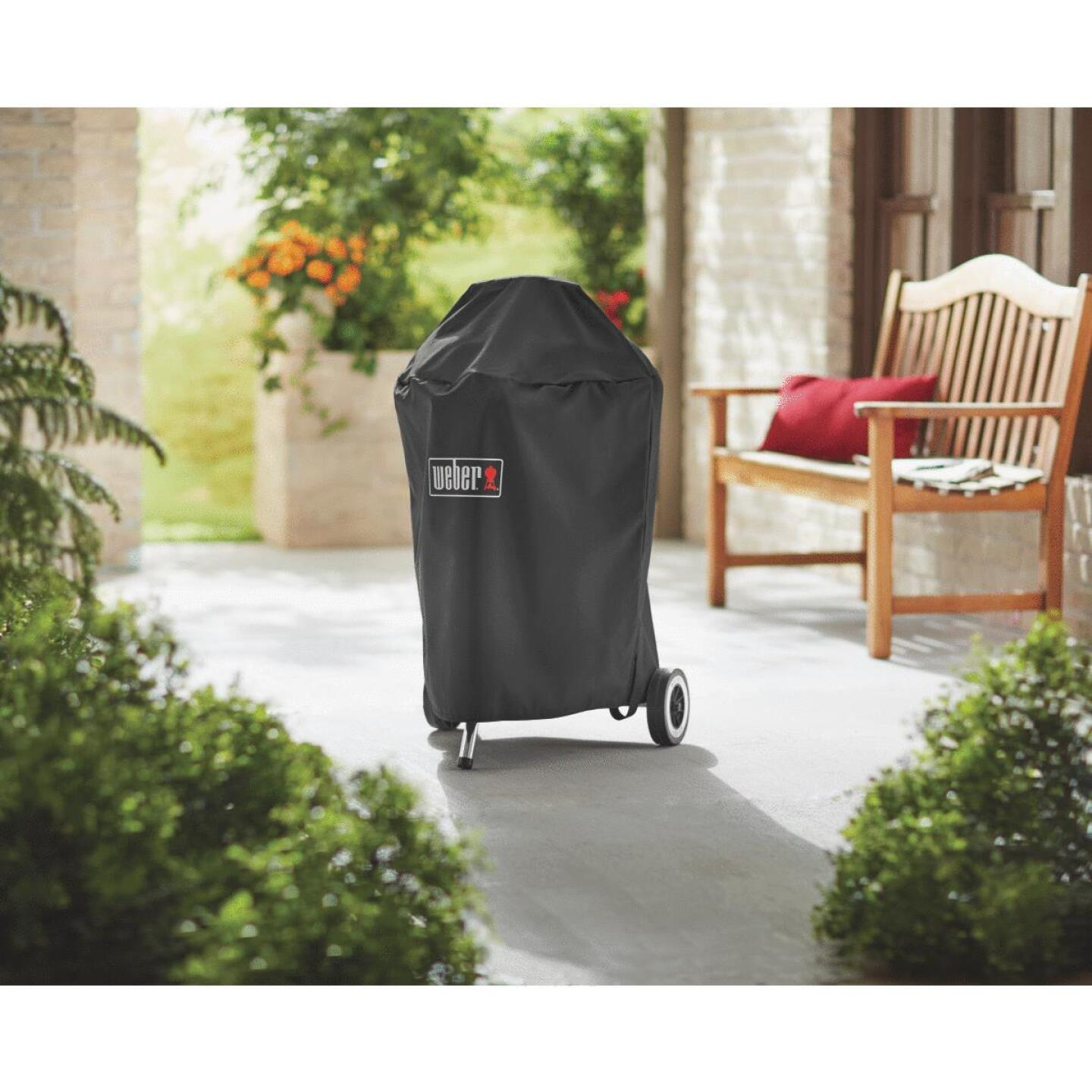 Weber Premium 20.5 In. Black Polyester Kettle Grill Cover Image 2
