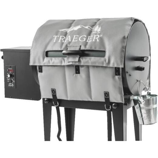 Traeger 22 In. Gray Polyester Insulated Blanket Grill Cover