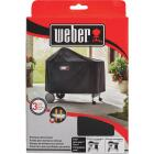 Weber Performer Premium Deluxe 49 In. Black Polyester Grill Cover Image 2