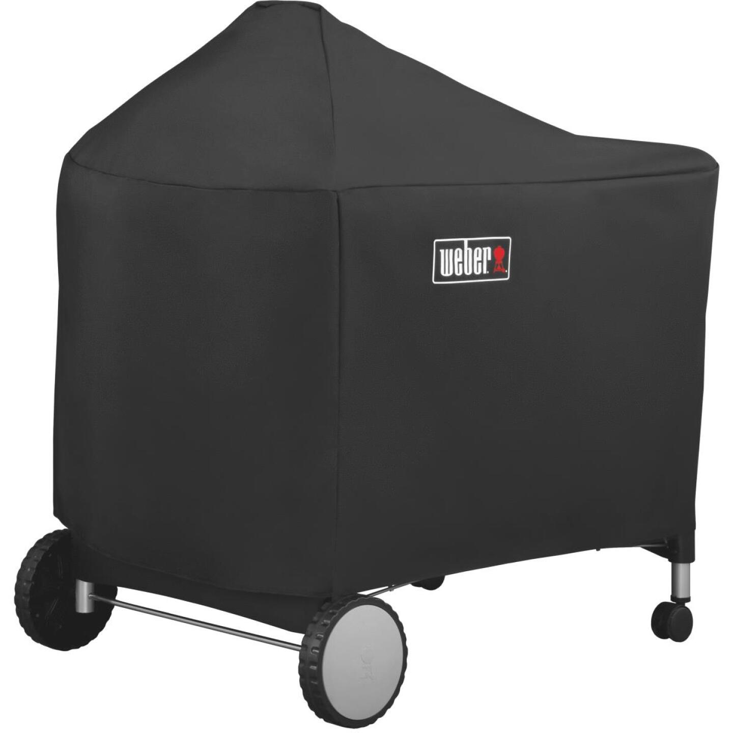 Weber Performer Premium Deluxe 49 In. Black Polyester Grill Cover Image 1