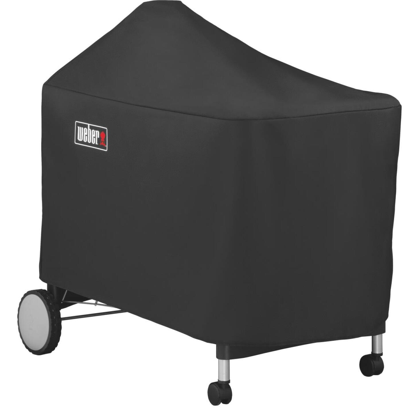 Weber Performer Premium Deluxe 49 In. Black Polyester Grill Cover Image 4