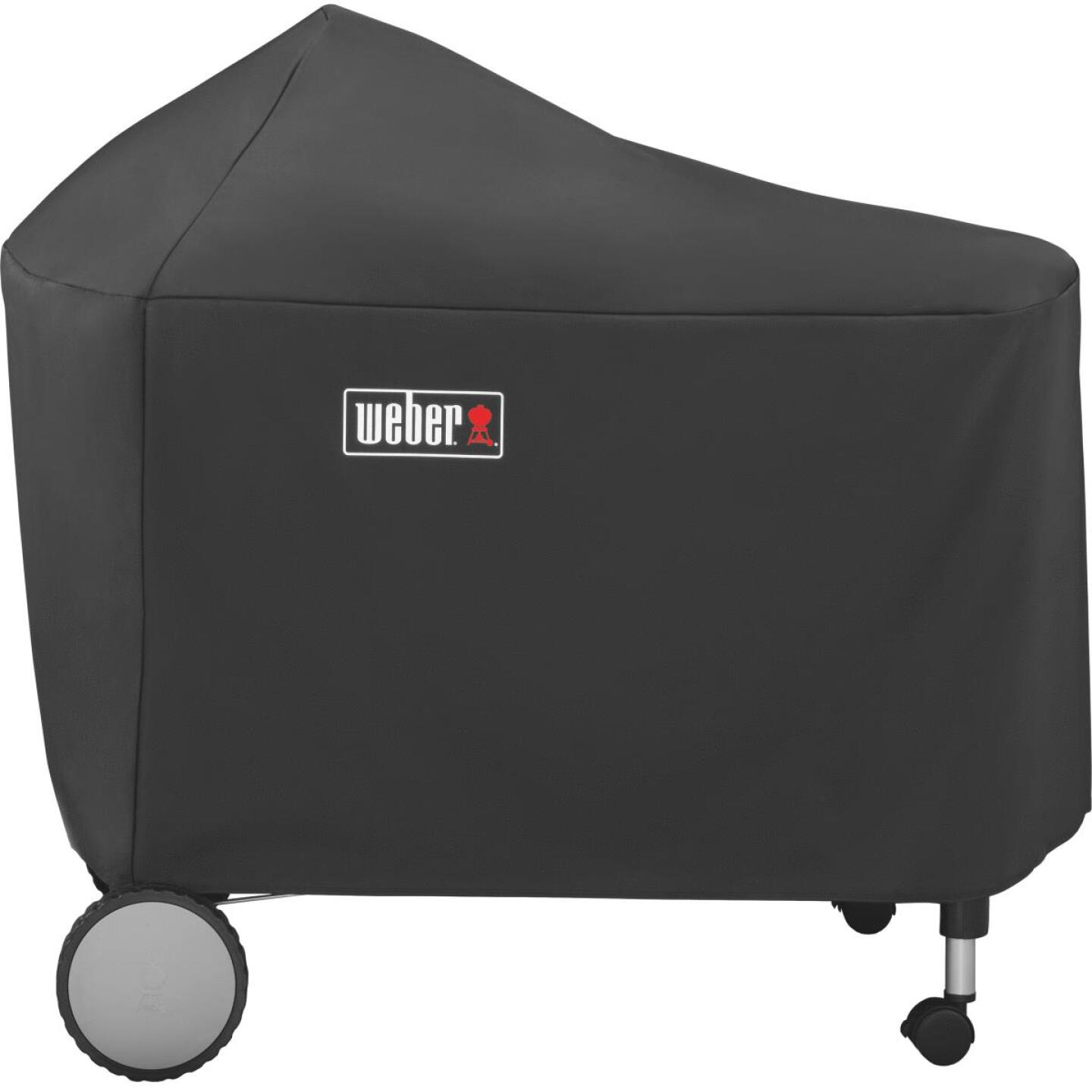 Weber Performer Premium Deluxe 49 In. Black Polyester Grill Cover Image 5