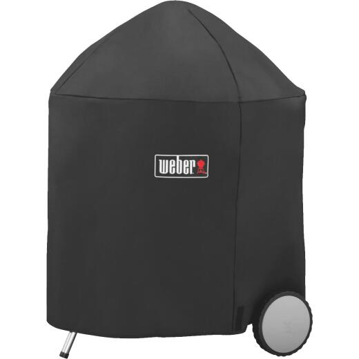 Weber Premium 31.5 In. Black Polyester Kettle Grill Cover