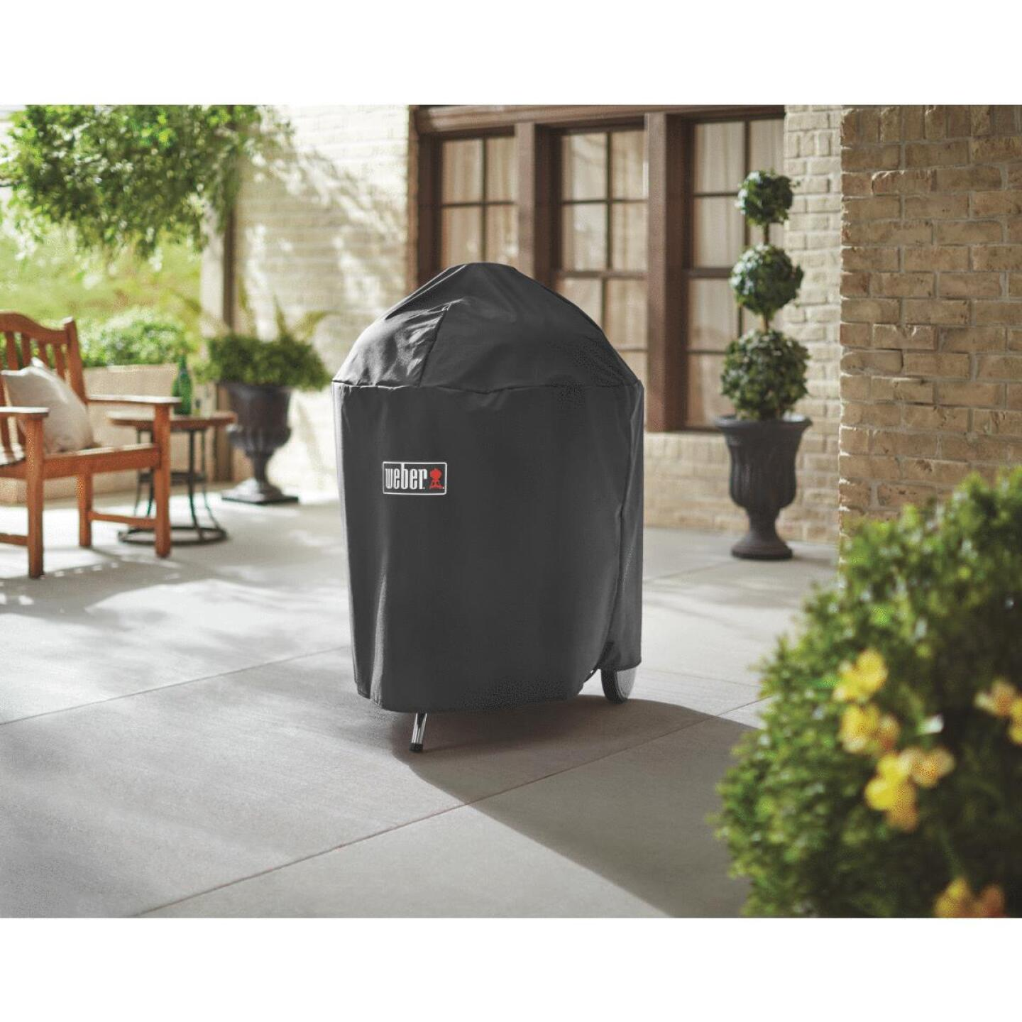 Weber Premium 31.5 In. Black Polyester Kettle Grill Cover Image 2
