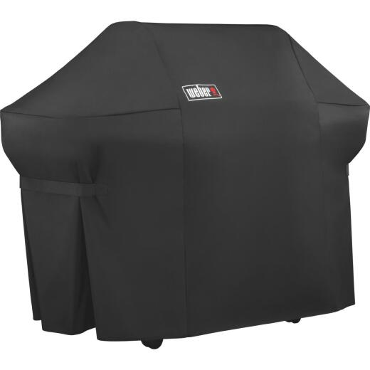 Weber Summit 400S Premium 67 In. Black Polyester Grill Cover