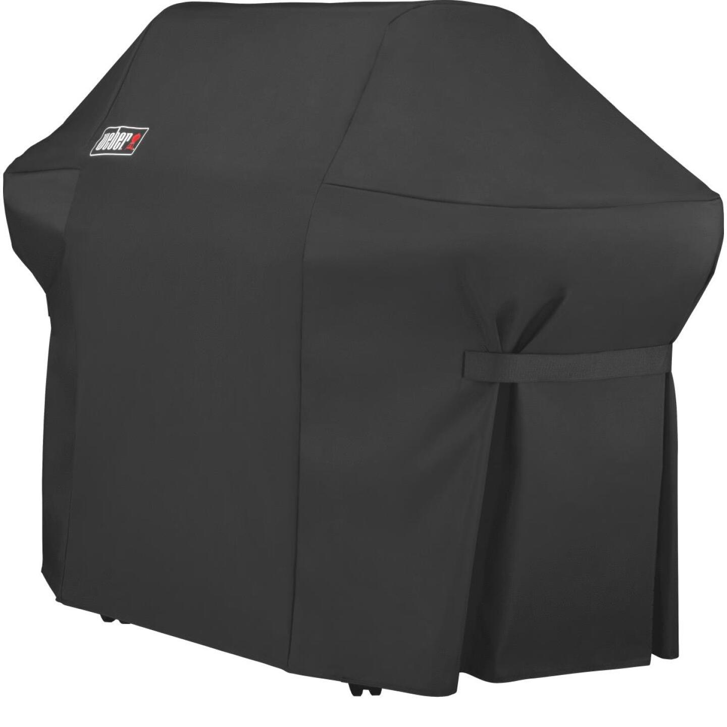 Weber Summit 400S Premium 67 In. Black Polyester Grill Cover Image 4