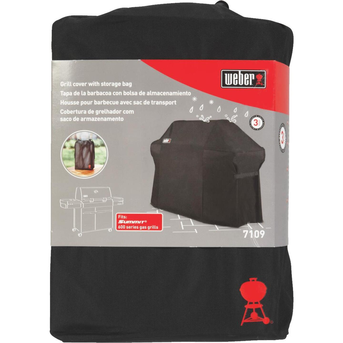 Weber Summit 600S Premium 75 In. Black Polyester Grill Cover Image 2