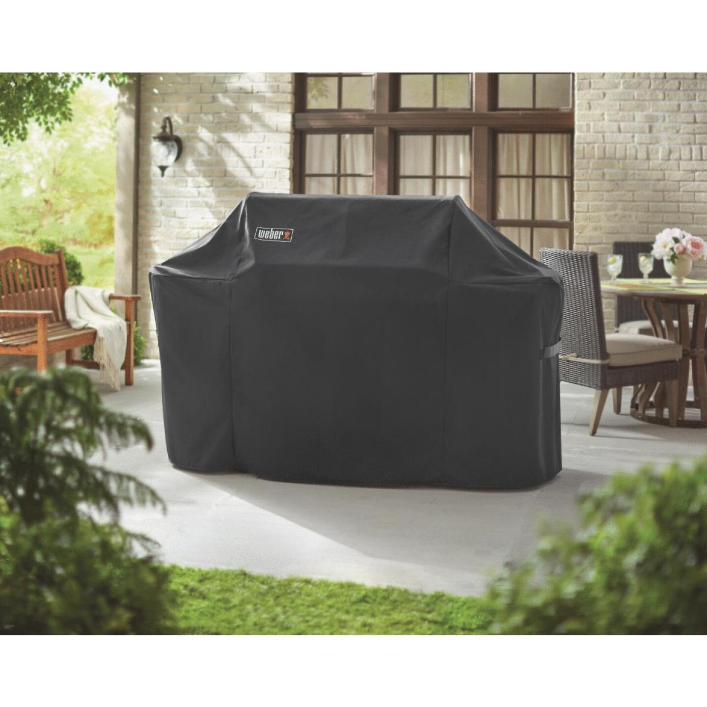 Weber Summit 600S Premium 75 In. Black Polyester Grill Cover Image 3