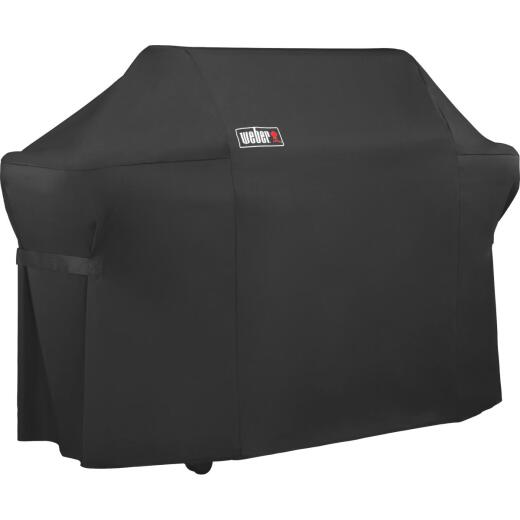 Weber Summit 600S Premium 75 In. Black Polyester Grill Cover