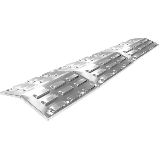 GrillPro 18.5 In. to 28.5 In. Porcelain-Coated Universal Stainless Steel Heat Plate