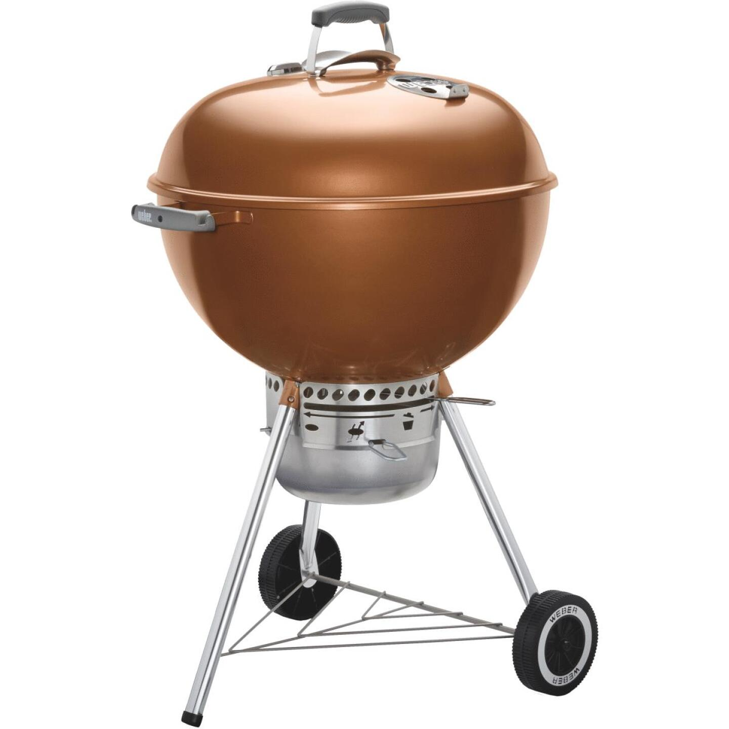 Weber Original Kettle 22 In. Dia. Copper Premium Charcoal Grill Image 1