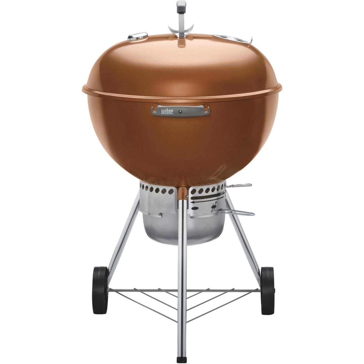 Weber Original Kettle 22 In. Dia. Copper Premium Charcoal Grill Image 5
