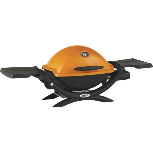 Weber Q 1200 1-Burner Orange 8,500-BTU LP Gas Grill