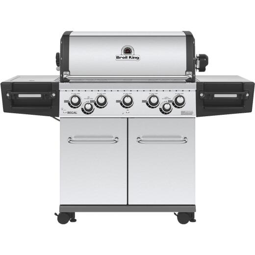 Broil King Regal S590 5-Burner Stainless Steel 55,000-BTU LP Gas Grill with 10,000-BTU Side Burner