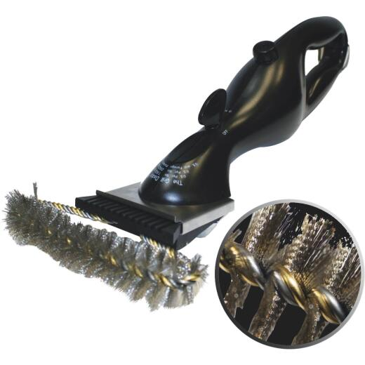 Grill Daddy Safety-Clean 16 In. Stainless Steel Bristles Steam Cleaning Grill Brush