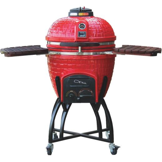 Vision Grills 18 In. Dia. Red Ceramic Charcoal Grill