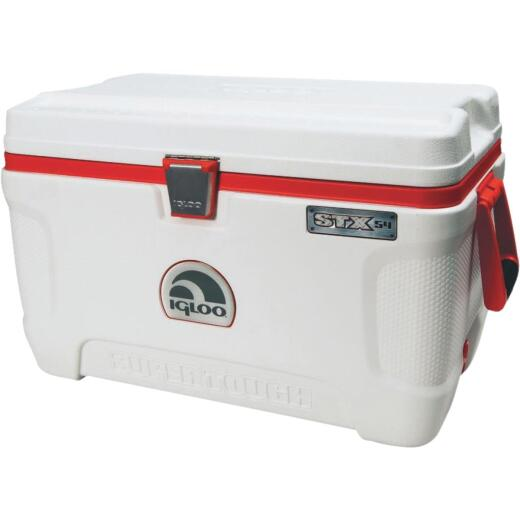 Igloo Super Tough STX 54 Qt. Cooler, White