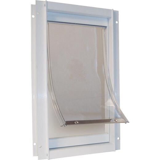 Ideal Pet 7 In. x 11-1/4 In. Medium Aluminum White Pet Door