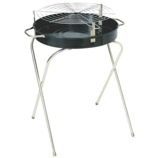 Kay Home Products 18 In. Dia. Black Folding Charcoal Grill