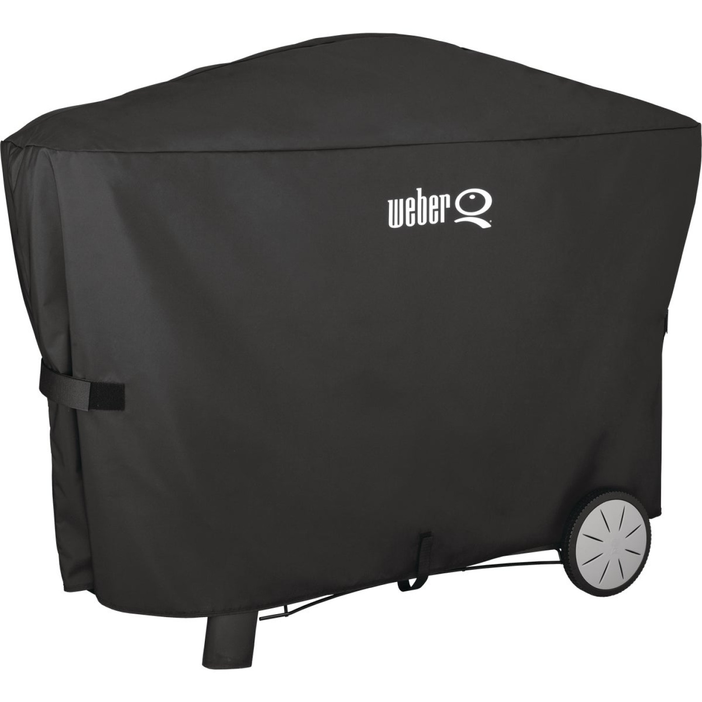 Weber Q 2000 with Q Cart & 3000 56.6 In. Black Vinyl Grill Cover Image 1
