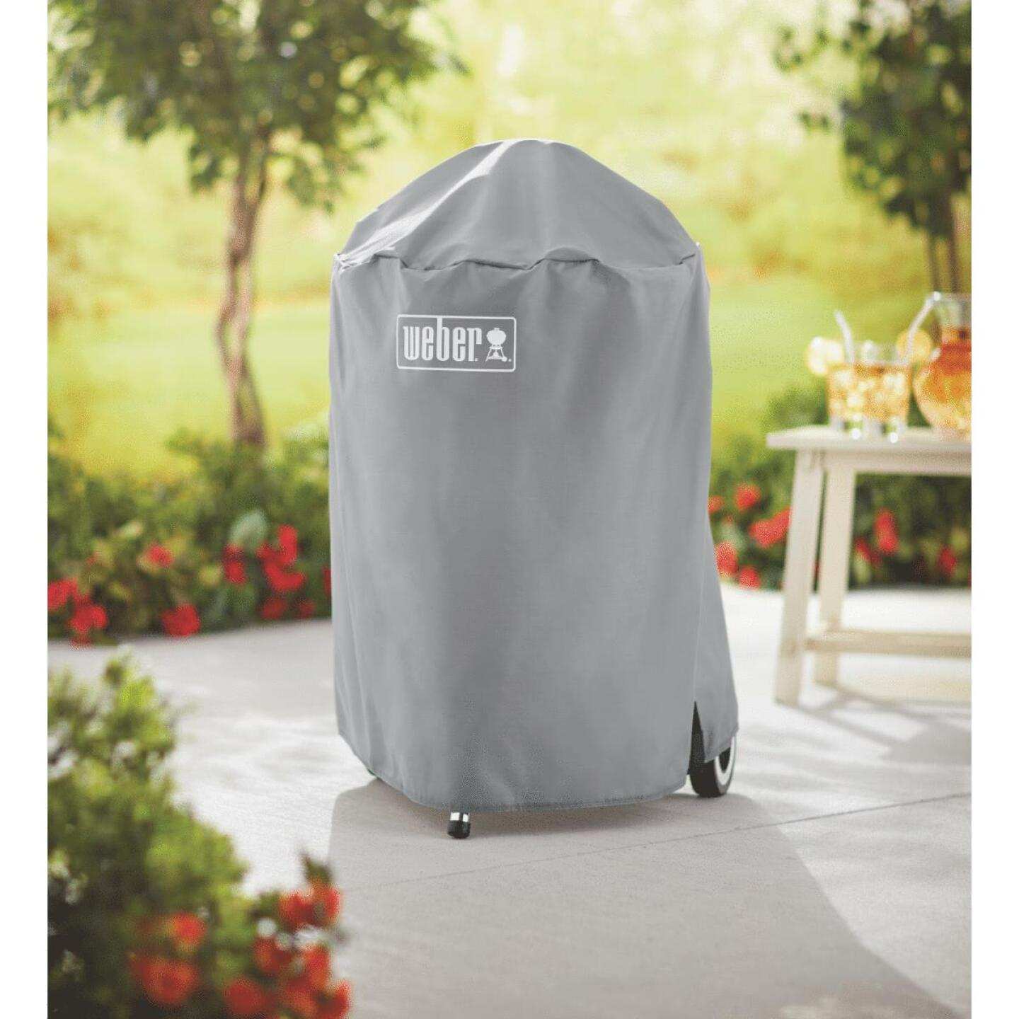 Weber 18 In. Gray Vinyl Kettle Grill Cover Image 2