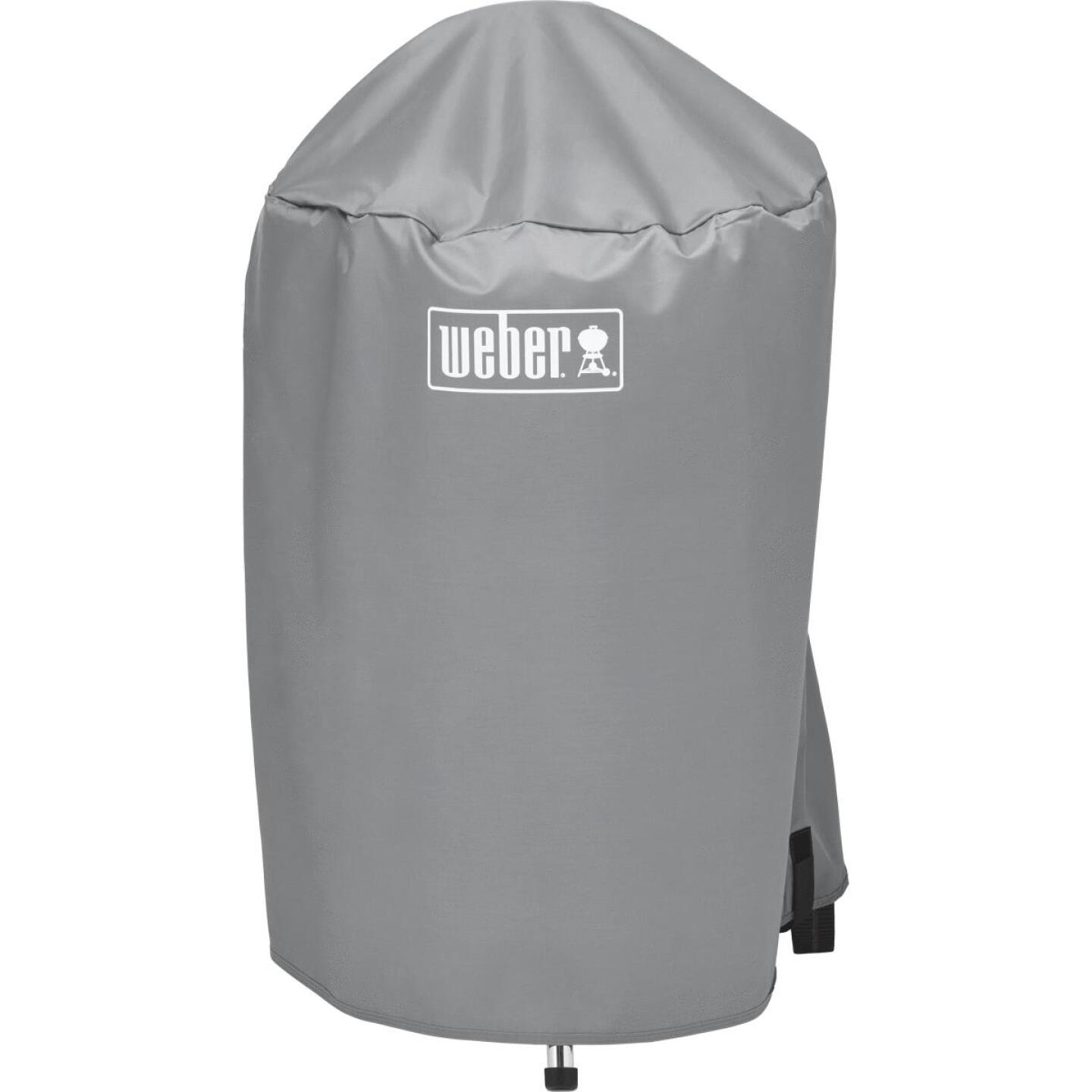 Weber 18 In. Gray Vinyl Kettle Grill Cover Image 3