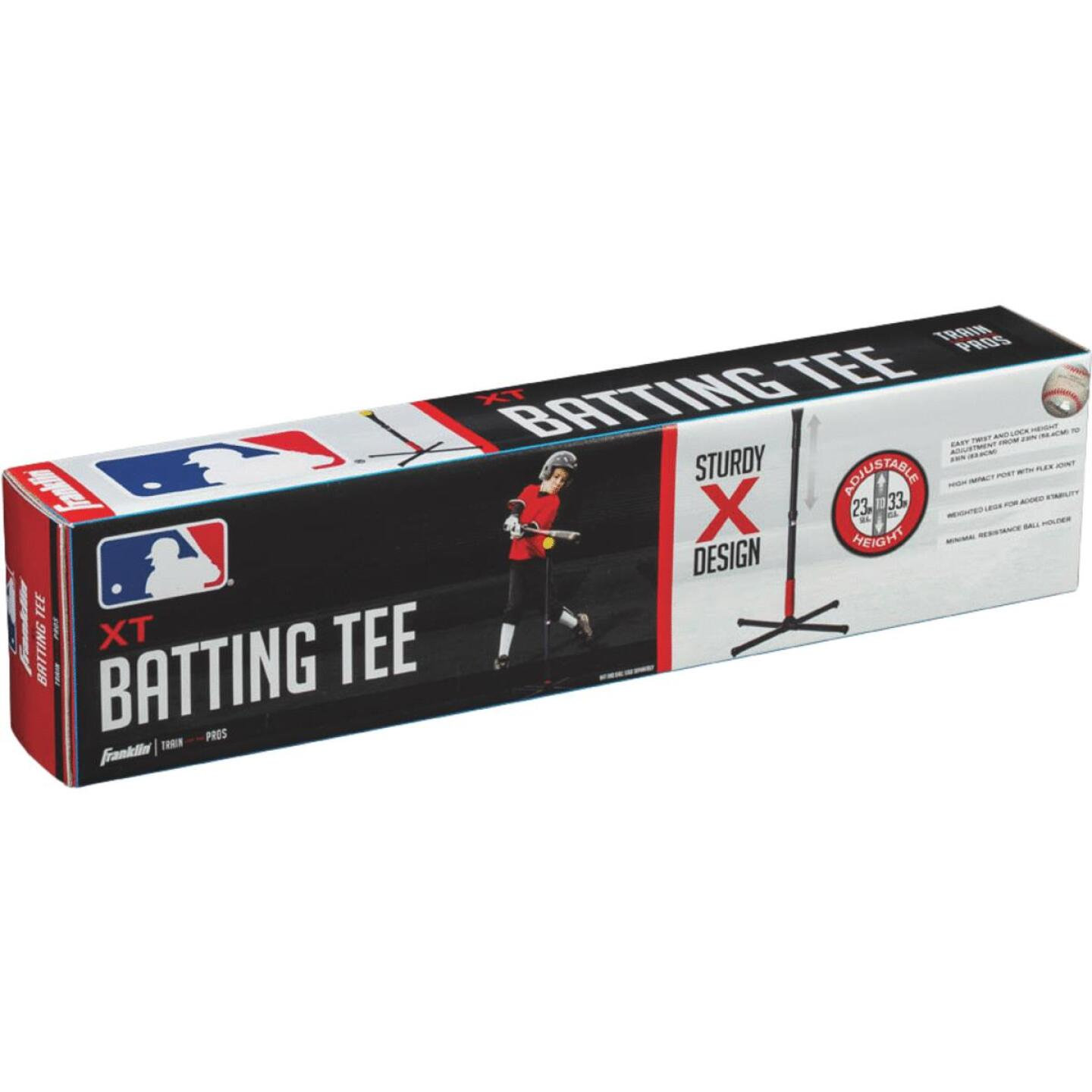 Franklin Sports Adjustable 20 In. to 36 In. Rubber Batting Tee Image 2