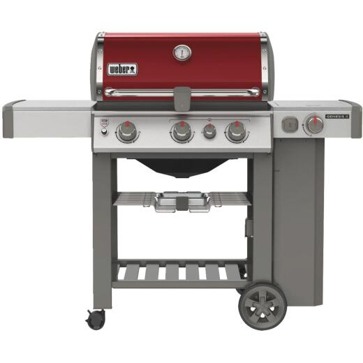 Weber Genesis II SE-330 3-Burner Crimson 39,000 BTU LP Gas Grill with 12,000 BTU Side Burner