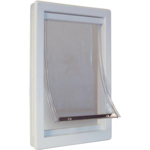 Ideal Pet 10-1/2 In. x 15 In. Extra Large Plastic White Pet Door