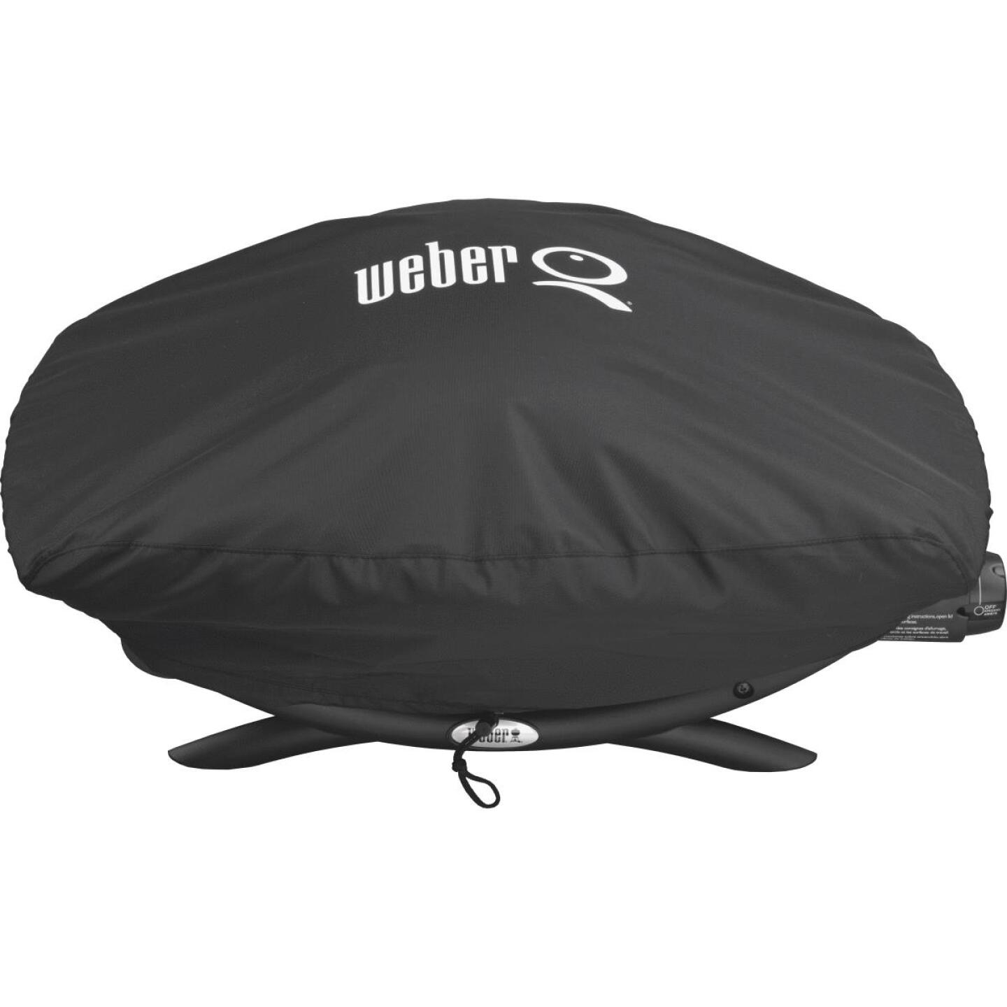 Weber Q 200/2000 21 In. Black Vinyl Grill Cover Image 3