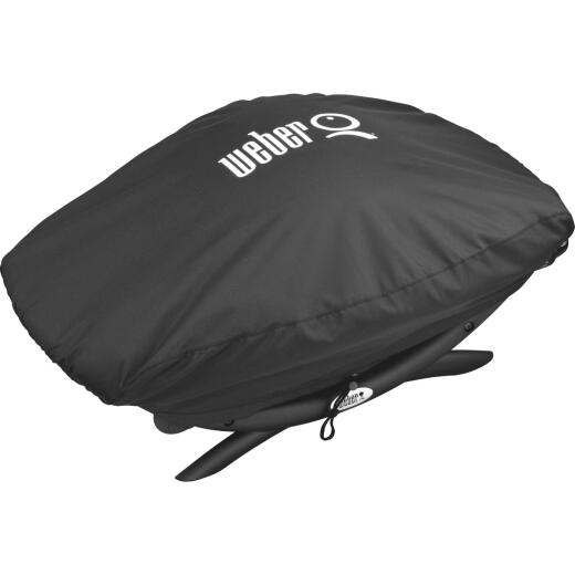 Weber Q 200/2000 21 In. Black Vinyl Grill Cover