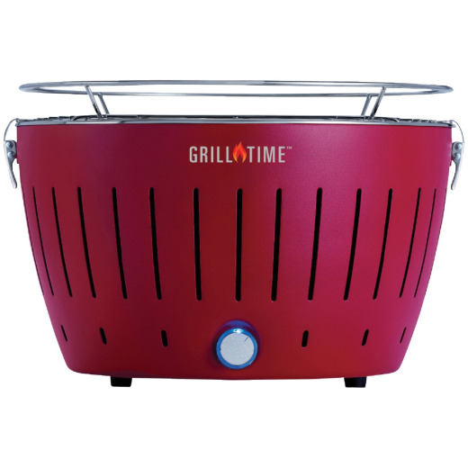 Grill Time Tailgater GT Red 124 Sq. In. Charcoal Portable Grill