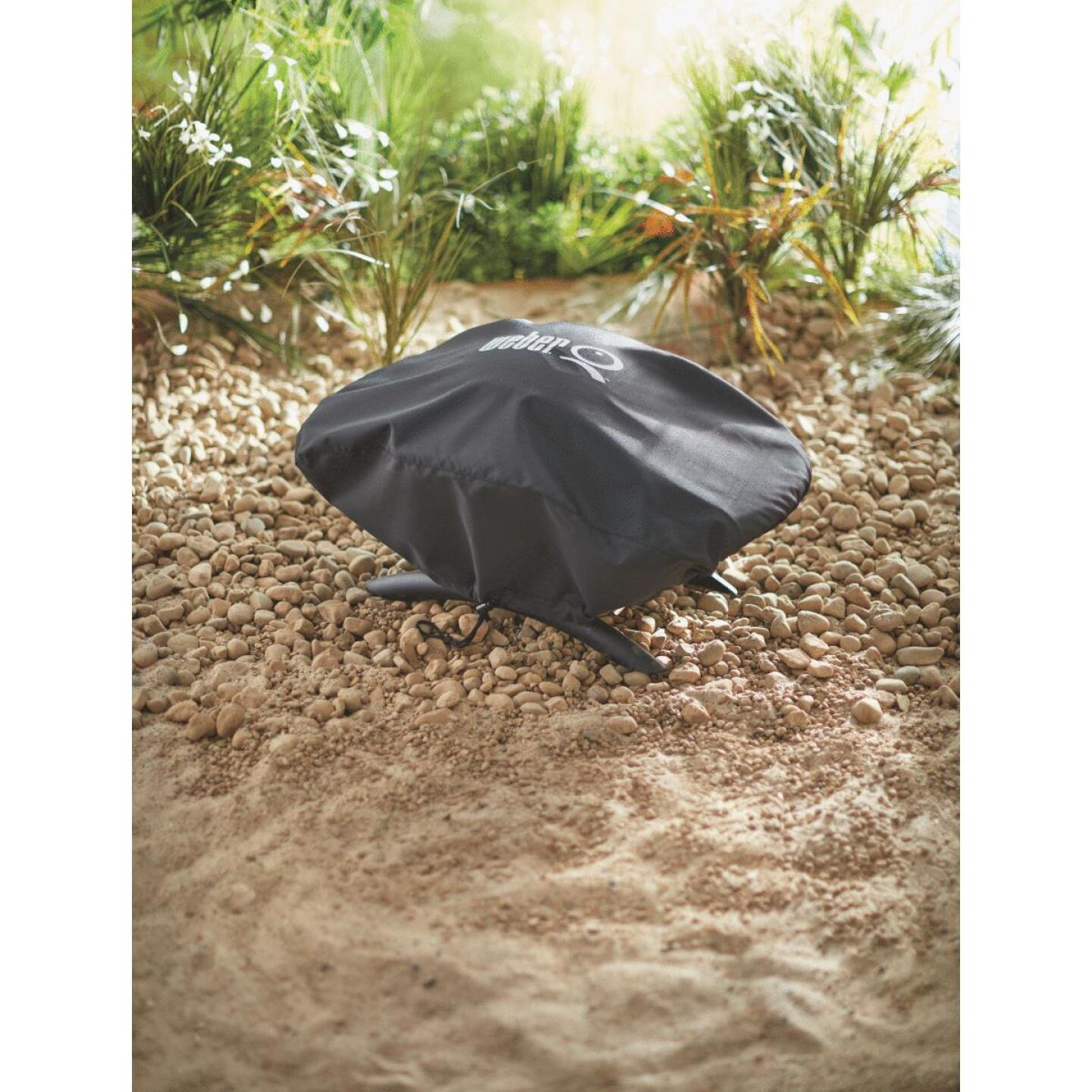Weber Q 100/1000 27 In. Black Vinyl Grill Cover Image 4
