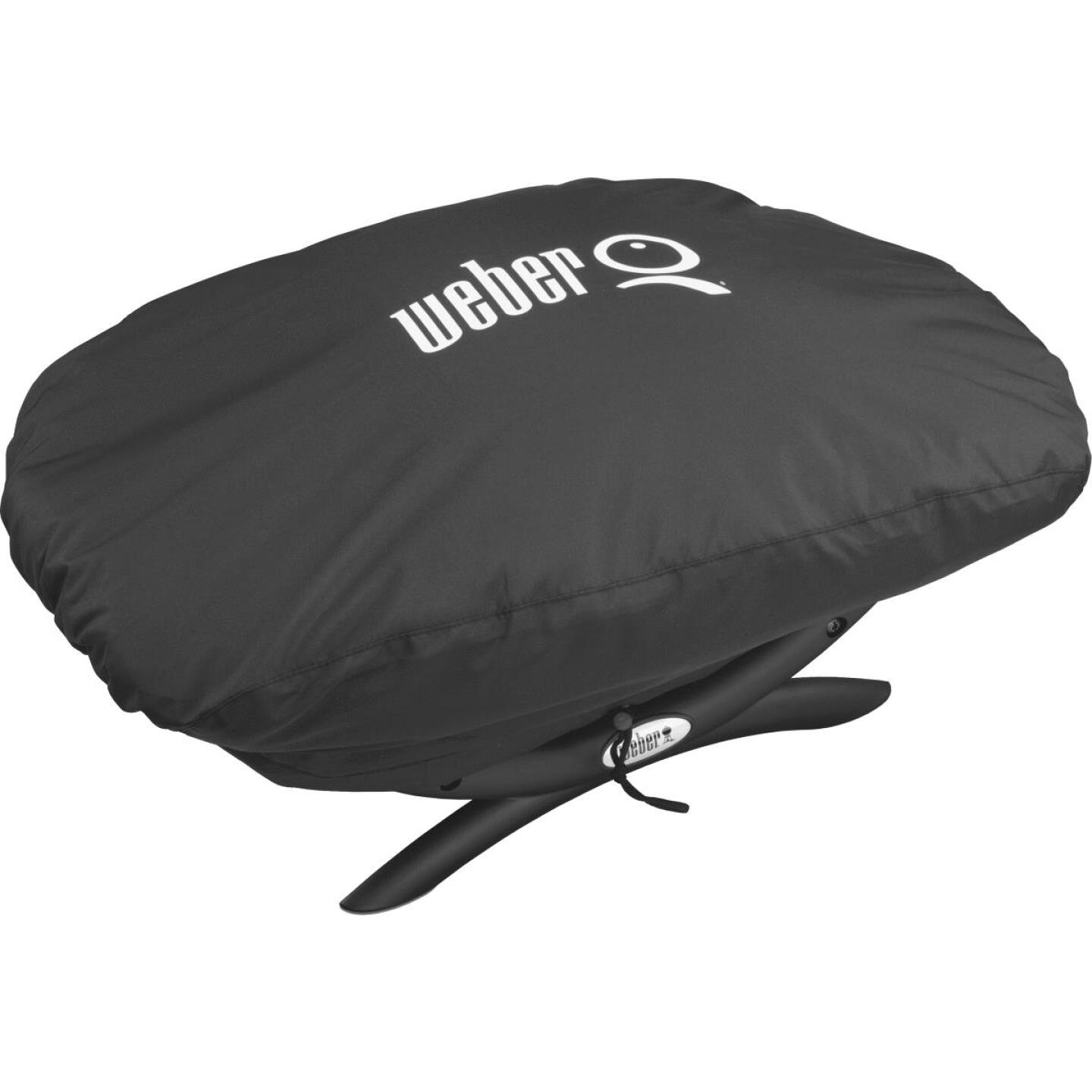 Weber Q 100/1000 27 In. Black Vinyl Grill Cover Image 1