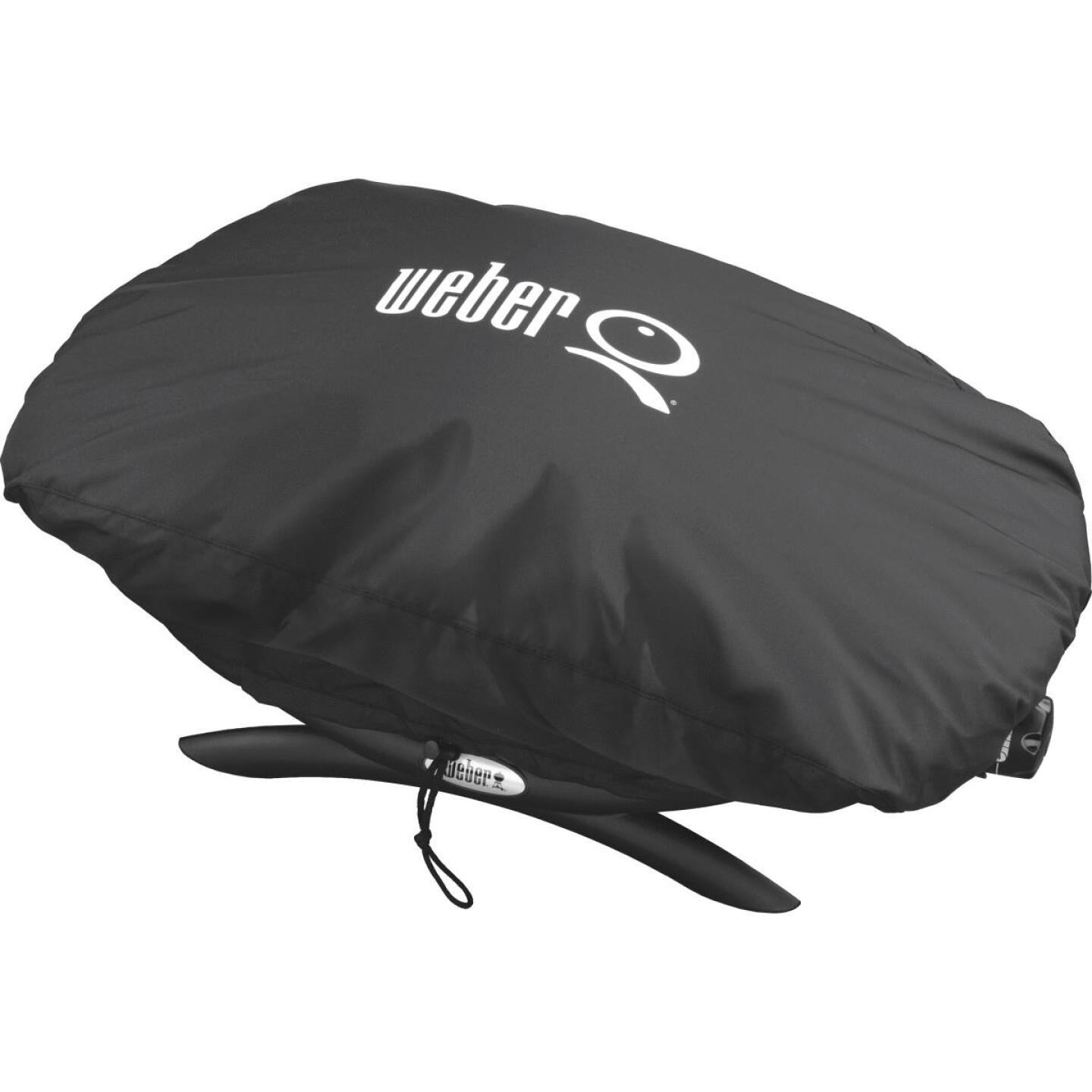 Weber Q 100/1000 27 In. Black Vinyl Grill Cover Image 5