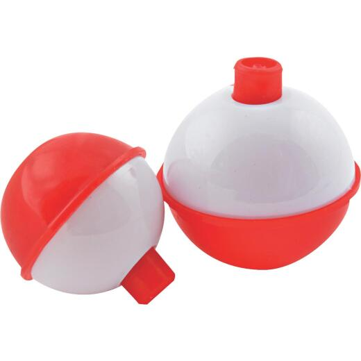 SouthBend 1 In. Red & White Push-Button Fishing Bobber Float (3-Pack)