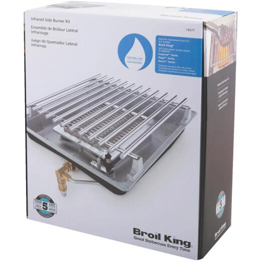 Broil King IR 10,000 BTU Stainless Steel Propane Gas Insert Side Burner