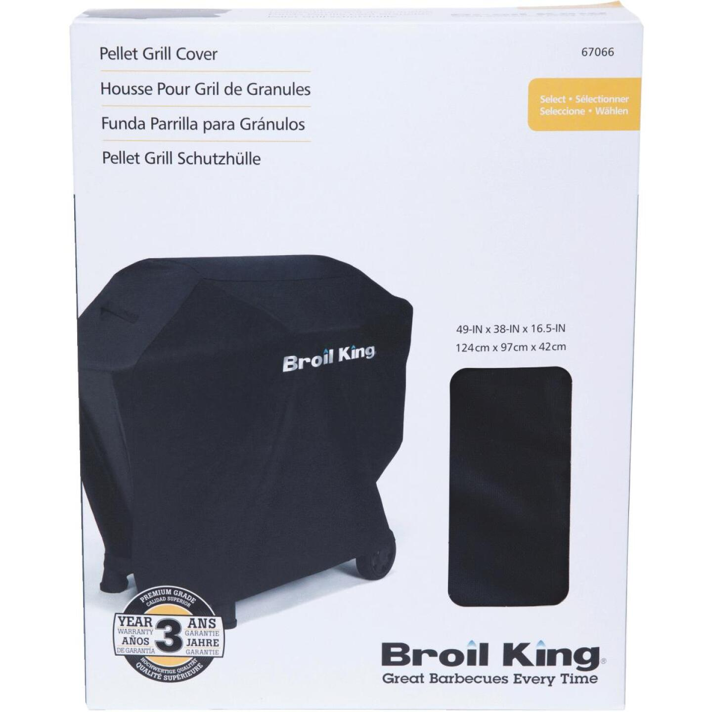 Broil King Baron Pellet 500 49 In. Black Grill Cover Image 1
