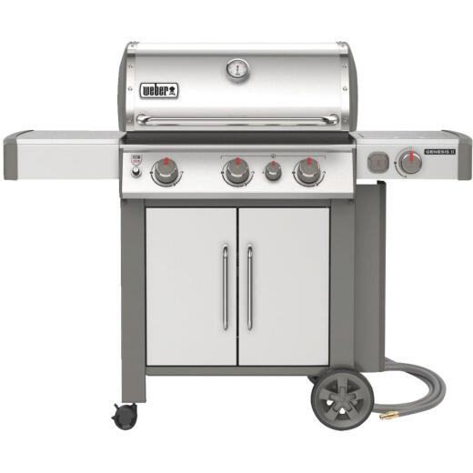Weber Genesis II S-335 3-Burner Stainless Steel 39,000 BTU Natural Gas Grill with 12,000 BTU Side Burner