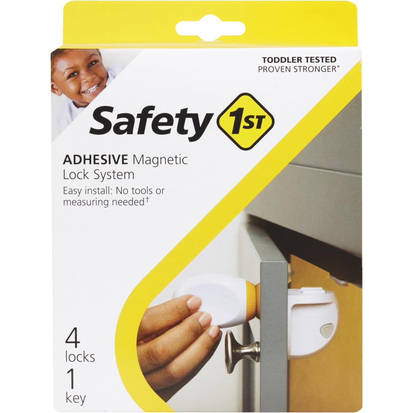 Safety 1st Plastic Adhesive Magnetic Lock System (4-Lock Set) Image 2