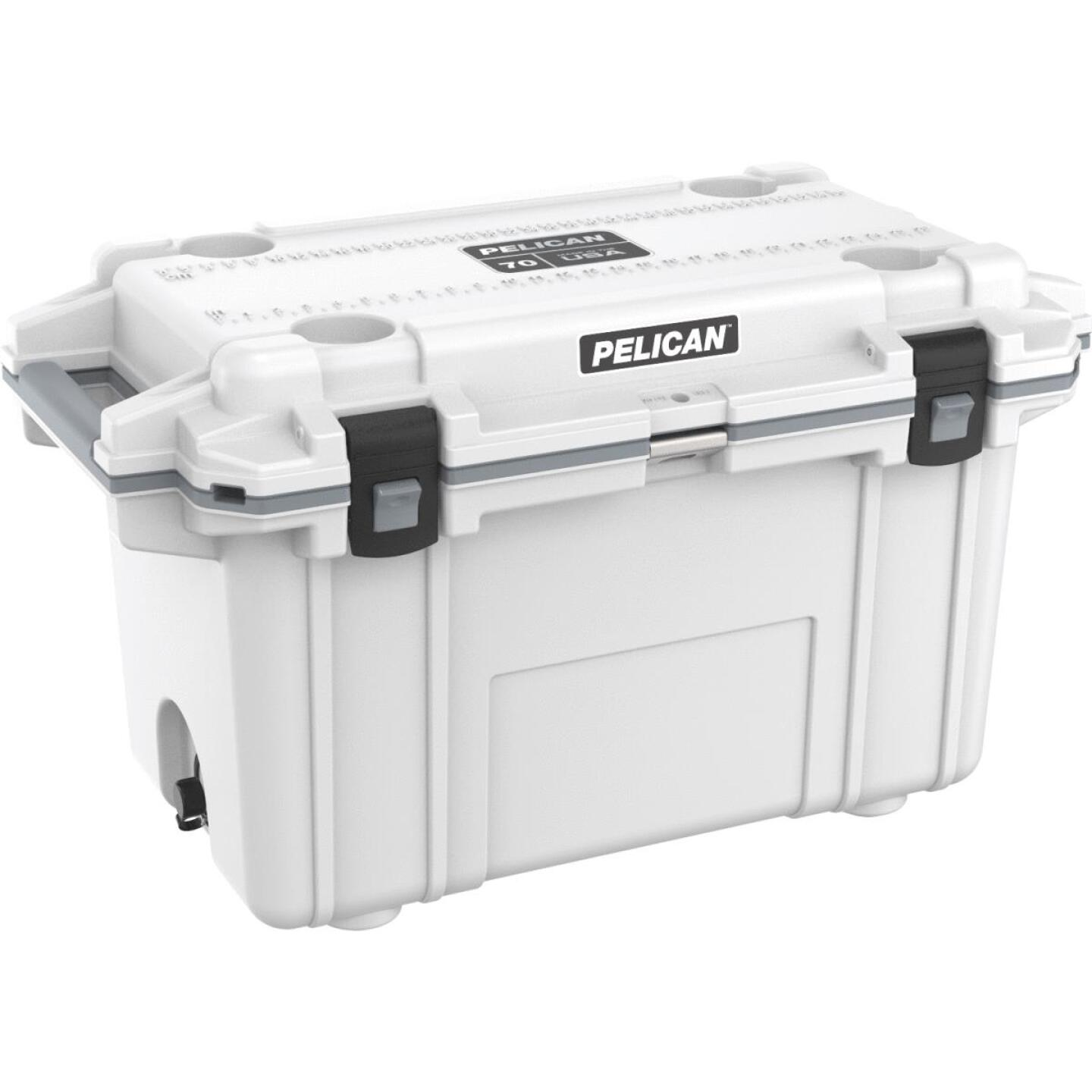 Pelican Elite 70-Qt. Cooler, White & Gray Image 1