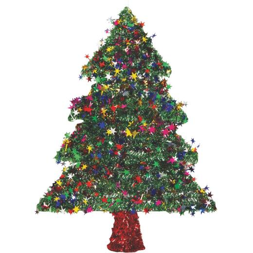 F C Young 18 In. Green Tinsel Christmas Tree