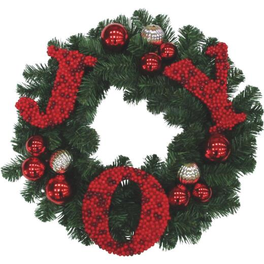 Gerson 24 In. Joy Artificial Wreath