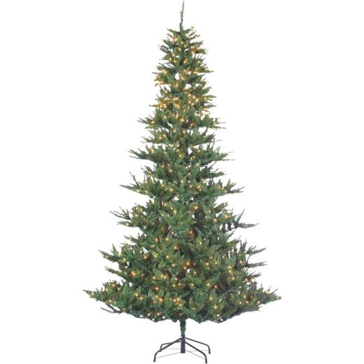 Sterling 9 Ft. Riverside Spruce 850-Bulb Clear Incandescent Prelit Artificial Christmas Tree